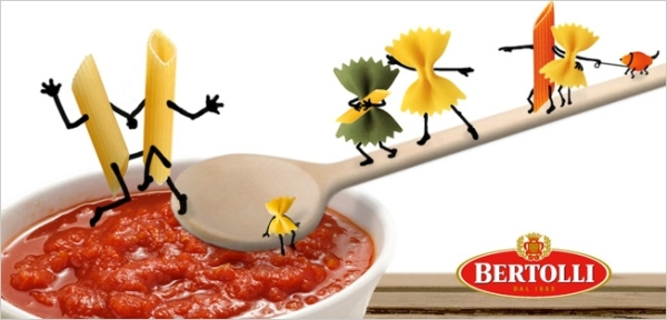 "In a Facebook post made by Bertolli Germany, this photo was posted along with a caption reading, ""love and pasta for all!"""